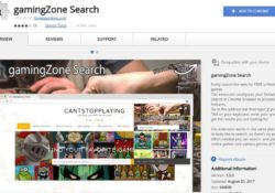 Remove gamingZone Search Extension