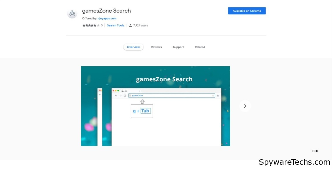 Remove GamesZone Search Extension
